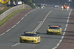 C6.R Corvettes on test day at Lemans