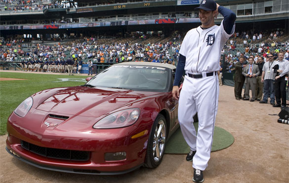 Chevy Awards Detroit Pitcher New Corvette Grand Sport for Great Performance