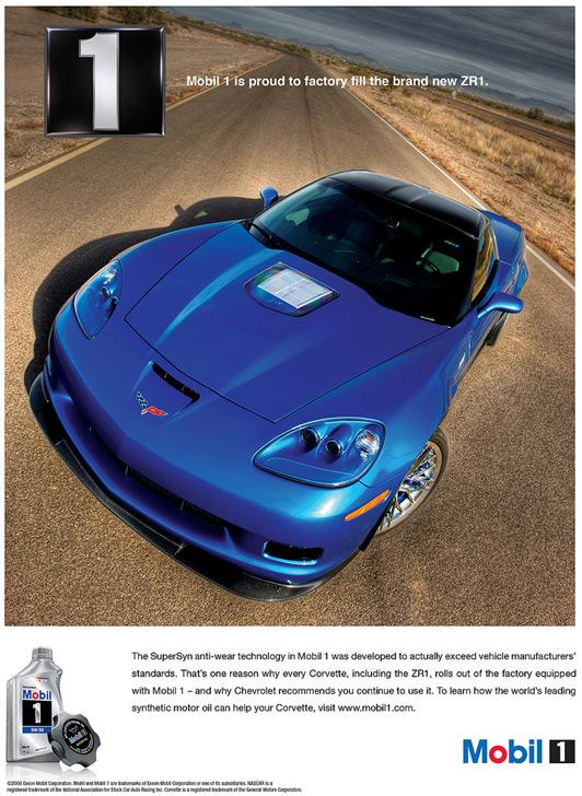 Mobil 1 Corvette ZR1 Print Ad