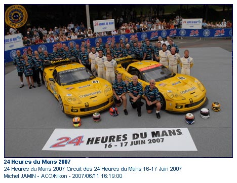 2007 Le Mans Corvette Racing Team Photo