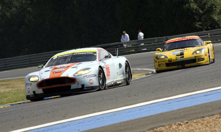 Corvette Running Second to Aston Martin at Le Mans