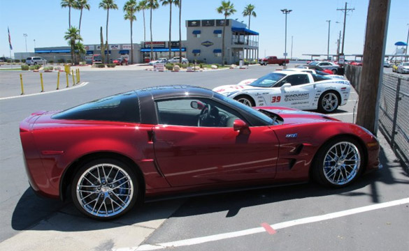 Bob Bondurant Shows Off One of the Schools New 2010 Corvette ZR1s