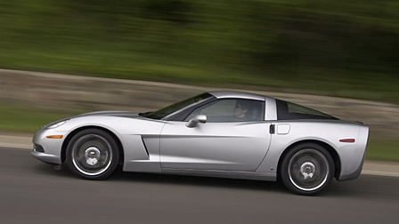 The 2009 Corvette in Blade Silver Metallic
