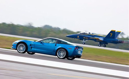 Corvette Blue Devil vs Blue Angel