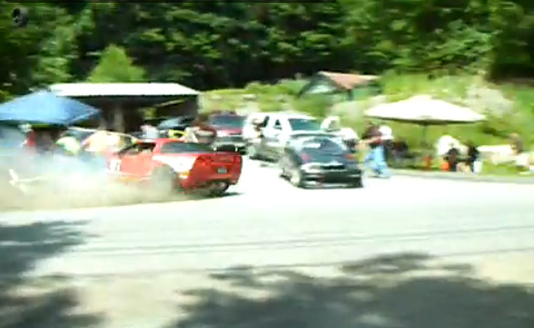 [VIDEO] Corvette Z06 Takes Out BMW M3 in Robin Hood Rally Crash