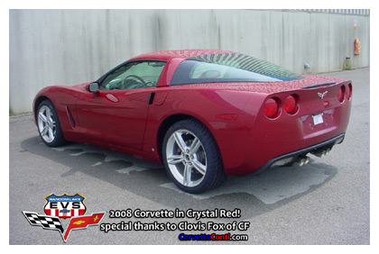 2008 Corvette in Crystal Red Metallic
