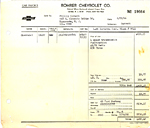 1966 Corvette Sales Invoice