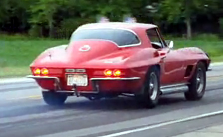 1967 Corvette Sting Ray Burnout at Bloomington Gold