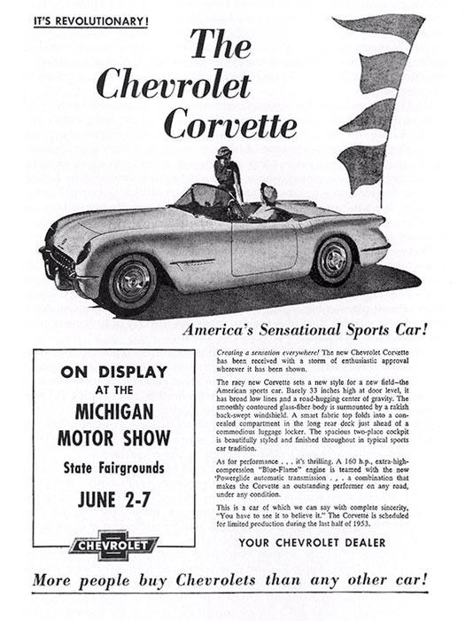 corvette ad watch  1953 corvette is  u0026quot america u0026 39 s sensational