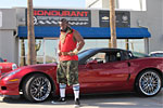 Mr. T in Bondurant's 2010 Corvette ZR1