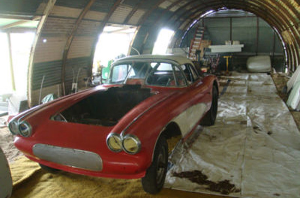 Corvettes on eBay: 1958 Corvette Barn Car