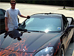 Dale Jr with his 2005 Corvette