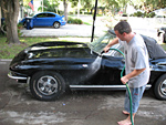 Washing a 1966 Corvette Convertible