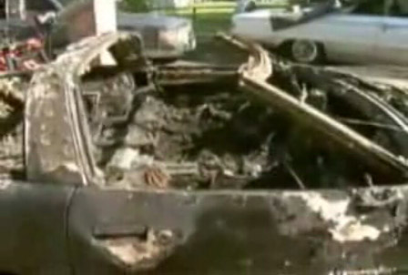 1989 Corvette Destroyed by Fireworks