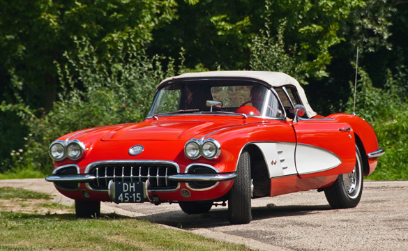 1959 Corvette Stolen from the Netherland's Corvette Fame Meeting