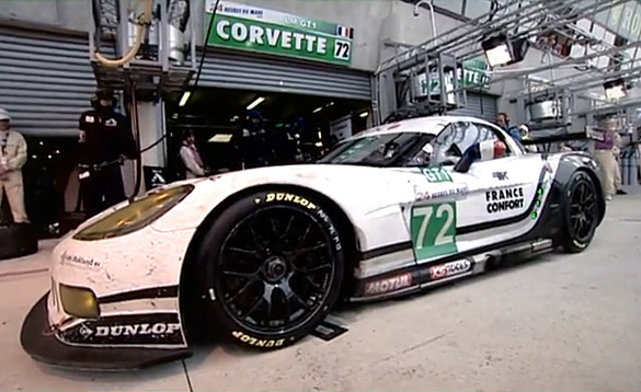 Luc Alphand Gives Tour of GT1 Corvette Garage at Le Mans