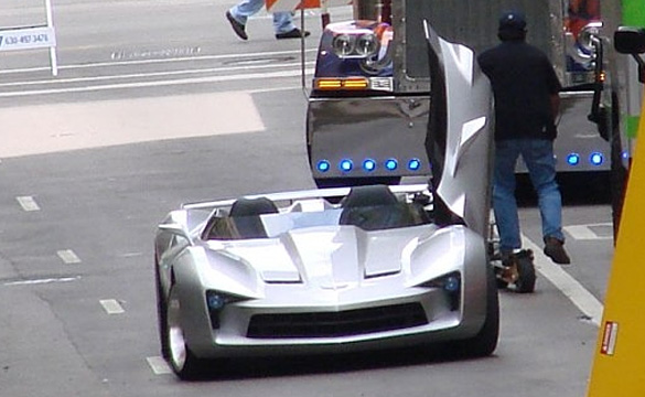 Transformers 3 Corvette Stingray Concept Speedster Spied During Chicago Filming