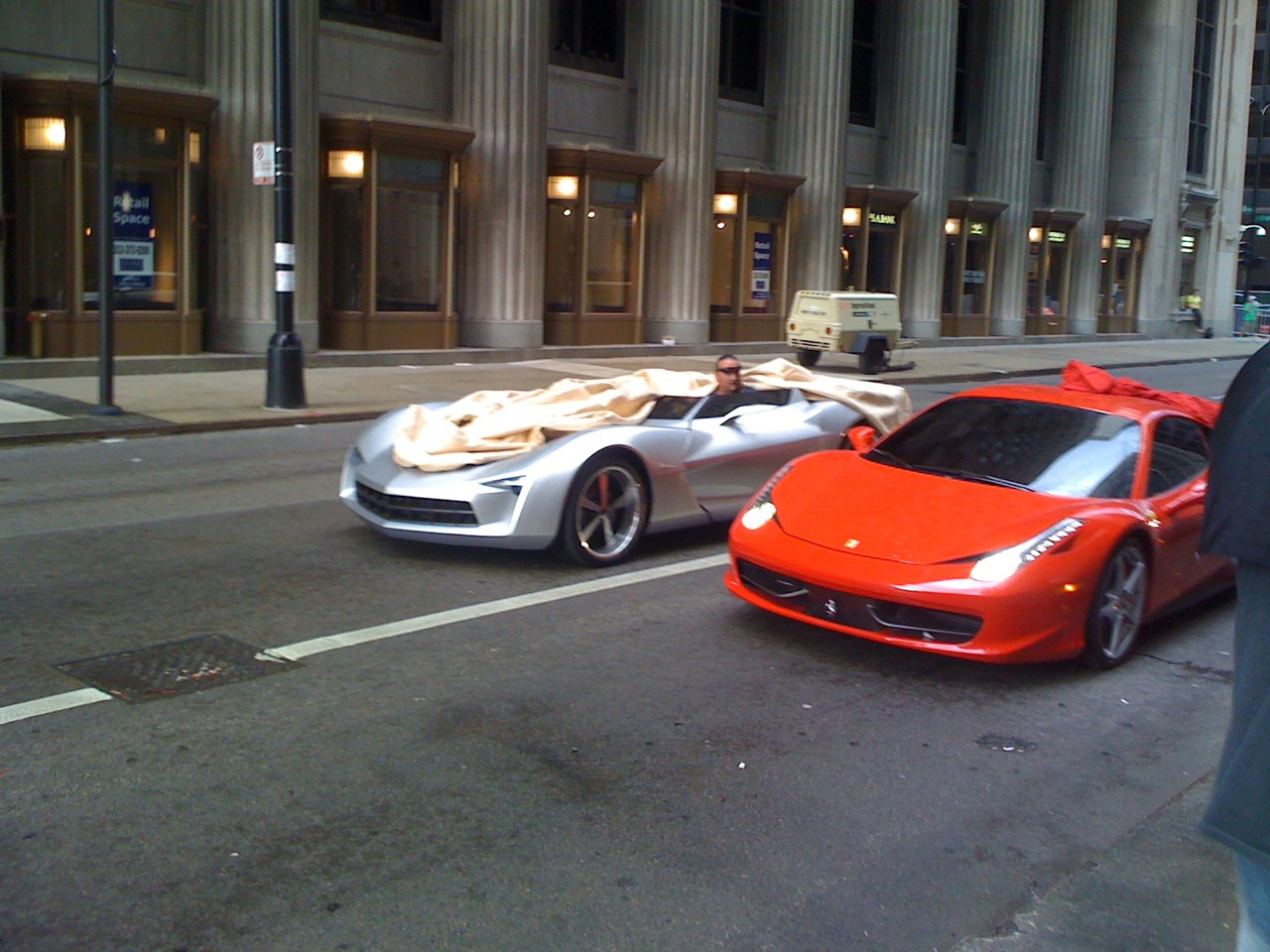 pics transformers 3 corvette stingray concept speedster spied during chicag. Cars Review. Best American Auto & Cars Review