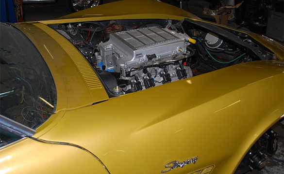LS9 Gets Dropped into a Warbonnet Yellow 1971 Corvette