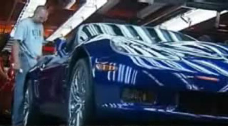 The first 2009 Corvette ZR1 rolls off the assembly line