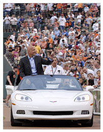 Cal Ripken Tours Camden Yards in a Corvette