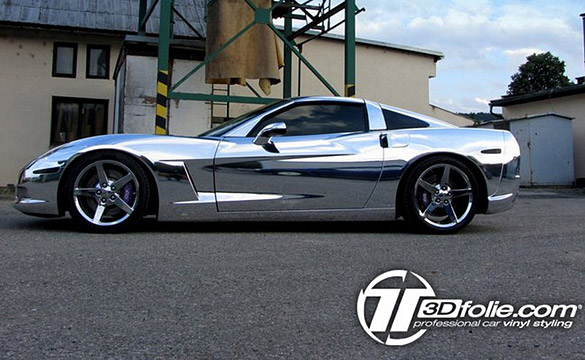Corvette Gets a Chrome Wrap by Czech Tuner