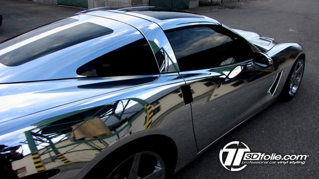 Corvette Gets A Chrome Wrap By Czech Tuner Corvette Sales News Amp Lifestyle