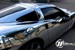 Corvette Gets a Chrome Wrap by Czech Tuner
