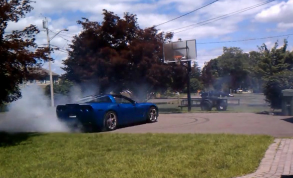 [VIDEO] Morning Donuts: Jetstream Blue 2008 Corvette in the Driveway