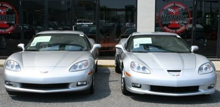 2009 Corvette's Blade Silver Metallic vs 2008 Corvette's Machine Silver