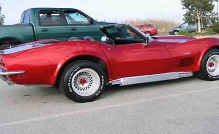Stolen 1970 Red Corvette VIN 194670S401895