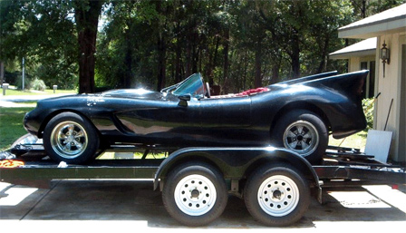 Custom Batmobile Made From 1958 Corvette