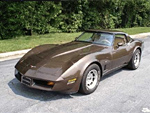 1980 Dark Brown Corvette