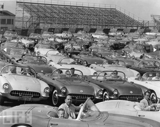 CVintage Picture: Corvette Rally (1955)