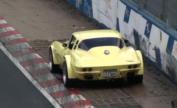 [VIDEO] Classic Corvette Dodges Bullet at Nurburgring