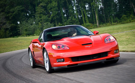 A Corvette ZR1 at the Milford Test Track