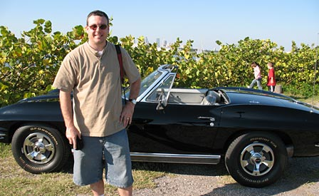 CorvetteBlogger's Keith Cornett with his 1966 Sting Ray