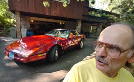 Michael Shoop and his Electric 1978 Corvette