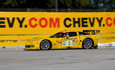 Corvette Racing's #3 Corvette C6.R at the Detroit Belle Island Grand Prix