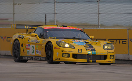 The #3 Corvette C6.R at the Detroit Belle Isle Grand Prix