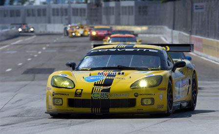 The #4 Corvette C6.R Wins the Detroit Sports Car Challenge