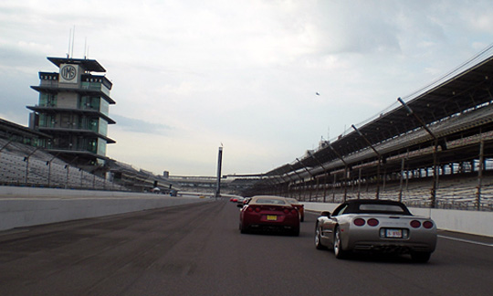 Indiana Corvette Caravans Gather at Indy Motor Speedway