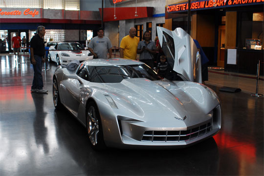 Transformer's Sideswipe Concept on Display at the Corvette Museum