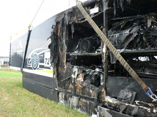 RIP: Corvette C6.R Chassis #003 Dies in Transporter Fire