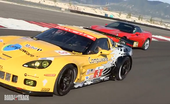 [VIDEO] Road vs Track Showdown: Corvette C6.R and the ZR1