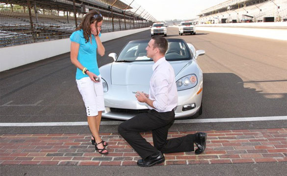 [VIDEO] Marriage Proposal Features a Convertible Corvette and the Indy 500