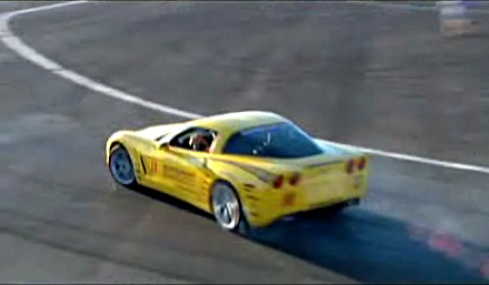 Cindy McCain Drifting a Corvette