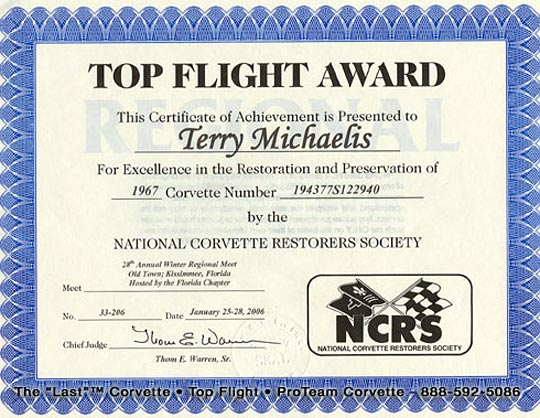 NCRS Announces Award Confirmation Service