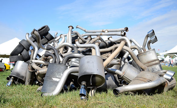 Exhausts pile up at Corvette Funfest
