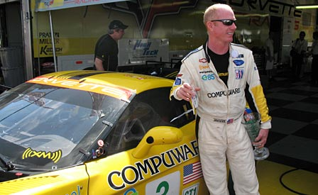 Corvette Racing's Johnny O'Connell following the St. Petersburg Grand Prix